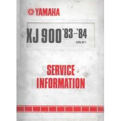 YAMAHA XJ 900 de 1983-1984 types 31A et 58L