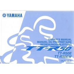YAMAHA TT6R 50 E et EW50 type 1P6 de avril 2006