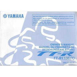 YAMAHA TT-R 110 E (Y) modèle 2009 type 5B6