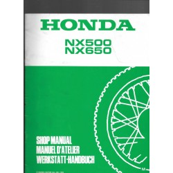 HONDA NX 500 / 650 Additif décembre 1991