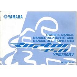 YAMAHA quad YFM 350 RV DE 2005