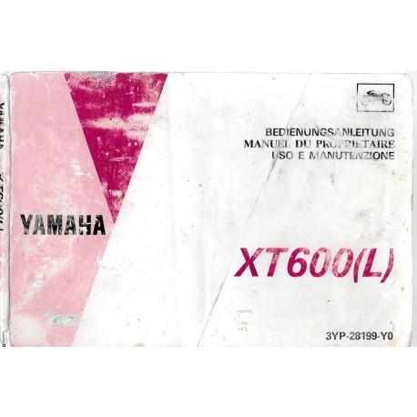 YAMAHA XT 600 (L) type 3YP de 1993