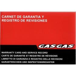 GAS GAS carnet de garantie neuf