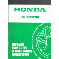 HONDA XL 600 R Additif décembre 1986