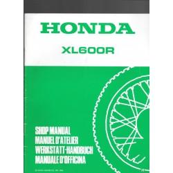 HONDA XL 600 R Additif décembre 1986