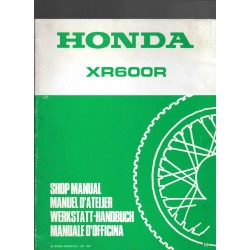 HONDA XR 600 R (Additif février 1987)
