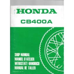HONDA CB 400 A (Manuel atelier de base) décembre 1977