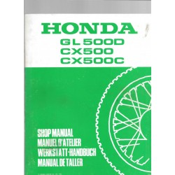 HONDA GL 500 D / CX 500 / CX 500 C (Additif avril 982)
