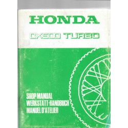 HONDA CX 500 TURBO (Manuel de base) septembre 1981