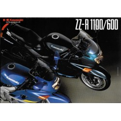 Catalogue original KAWASAKI ZZ-R 1100 / 600 de 1996