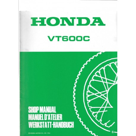 HONDA VT 600 C (Additif de janvier 1995)