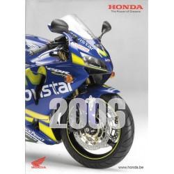 HONDA Belgique Gamme Motos de 2006