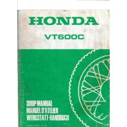 HONDA VT 600 C (Manuel atelier de base) avril 1988
