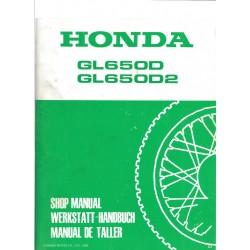 HONDA GL 650 D et D2 (Manuel de base février 1983)