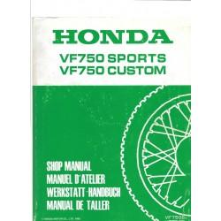 HONDA VF 750 S et C (Manuel de base février 1982)