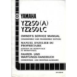 Manuel atelier YAMAHA YZ 250 (A) / LC 1990