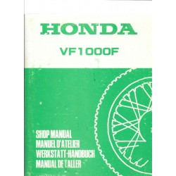 HONDA VF 1000 F (Manuel de base mars 1984)