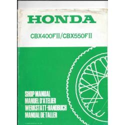 HONDA CBX 400 et 550 F II (Additif juin 1982)