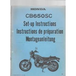 HONDA CB 650 SC (Manuel de montage)