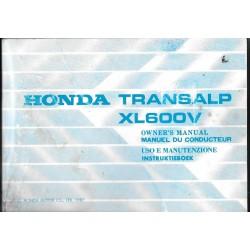 HONDA TRANSALP XL 600 V (05/87) modèle 1988