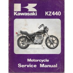 Manuel atelier KAWASAKI KZ 440 de 1980