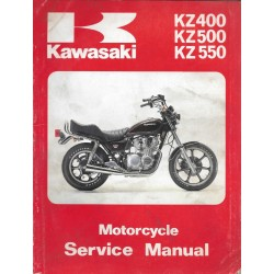 Manuel atelier KAWASAKI KZ 400 / 500 / 550 de 1980 / 1981