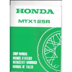 HONDA MTX 125 R (Additif février 198