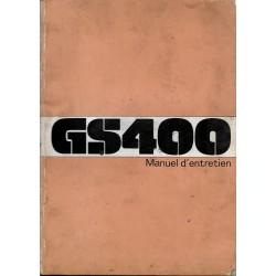 Manuel atelier SUZUKI GS 400 DOHC de 1977