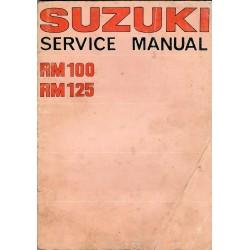 Manuel atelier SUZUKI RM 125 1975 à 1976