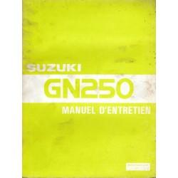 Manuel atelier SUZUKI GN 250 / GN 250 D de 1982 / 1983