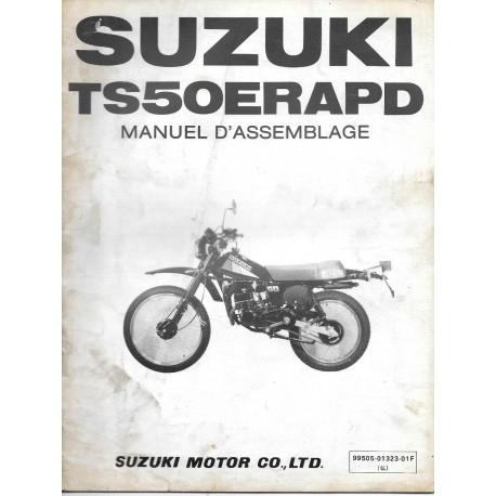 SUZUKI TS 50 ERAPD (manuel assemblage 12 / 1982)