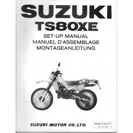 SUZUKI TS 80 XE (manuel assemblage 02 / 1984)