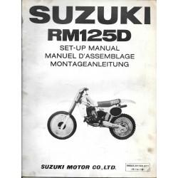 SUZUKI RM 125 D 1983 (manuel assemblage 11 / 1982)