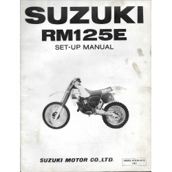 SUZUKI RM 125 E 1984 (manuel assemblage 10 / 1983)
