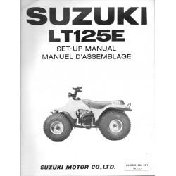 SUZUKI LT125 E 1984 (manuel assemblage 07 / 1983)