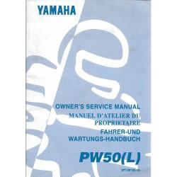 Manuel atelier YAMAHA PW 50 (L) 1999 Type 3 PT