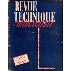 Revue Technique Motocycliste n° 29 / 30 réédition septembre 1952