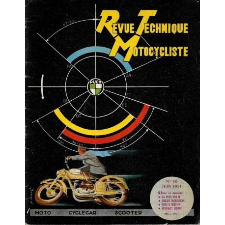Revue Technique Motocycliste n° 40 de juin 1951