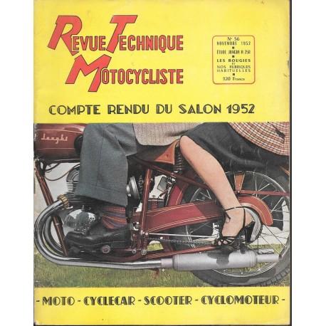 Revue Technique Motocycliste n° 56 novembre 1952