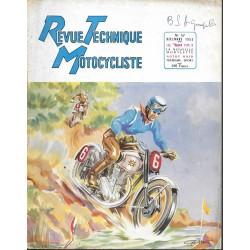 Revue Technique Motocycliste n° 57 décembre 1952