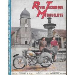 Revue Technique Motocycliste n° 66 de juillet 1953