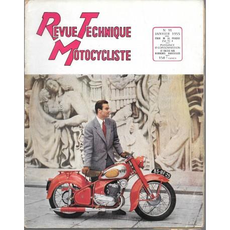 Revue Technique Motocycliste n° 91 de janvier 1955