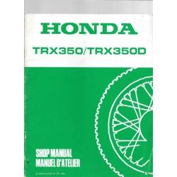 HONDA TRX 350 - TRX 350 D (Additif septembre 1988)