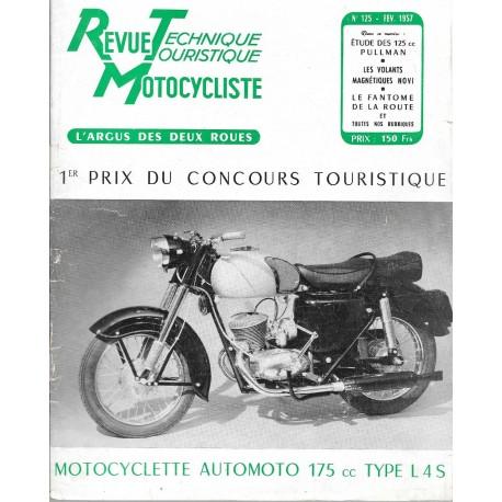 Revue Technique Motocycliste n° 125 de février 1957