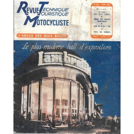 Revue Technique Motocycliste n° 129 de juin 1957