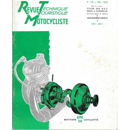 Revue Technique Motocycliste n° 136 de mai 1958