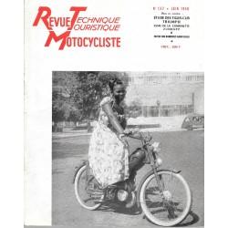 Revue Technique Motocycliste n° 137 de juin 1958