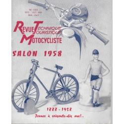 Revue Technique Motocycliste n° 139 de septembre-octobre 1958