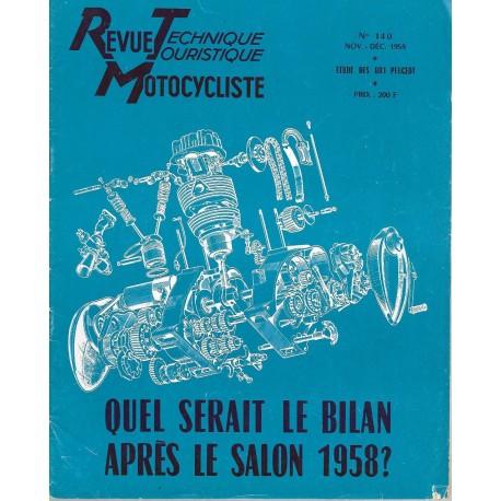 Revue Technique Motocycliste n° 140 de novembre-décembre 1958