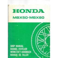 HONDA MBX 50 -MBX 80 (Manuel de base septembre 1982)